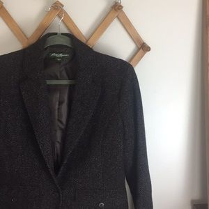 EDDIE BAUER Wool Tweed Poly Lined Blazer Jacket 6